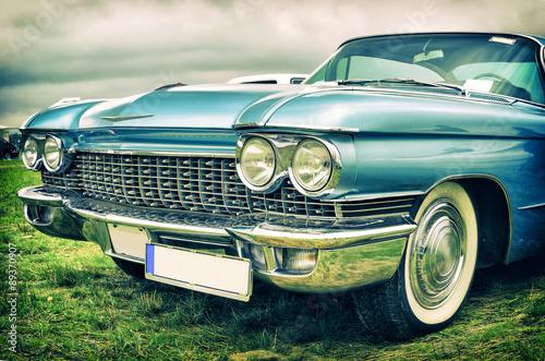 obraz PCV old american car in vintage style