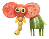 Elephant made of vegetables
