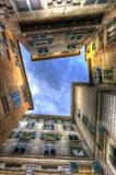 Genova. Una veduta particolare dei famosi vicoli della città.