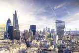 London sunset, view on business modern district - 89395142