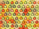 Colorful vintage 3D boxes background - vibrant cubes pattern