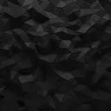 Abstract black 3D geometric polygon facet background mosaic made by edgy triangles