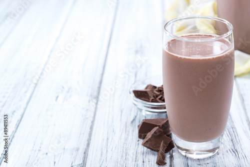 Fotobehang Milkshake Cold Chocolate Milk