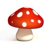 mushroom 3d illustra...