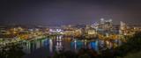 Fototapety Panoramic view pf Pittsburgh USA