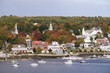 Village of Penobscot with fall colors.Penobscot, Maine