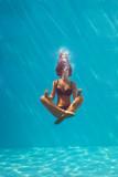 Fototapety underwater meditation