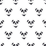 Fototapety seamless cute panda pattern