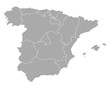 Obrazy na płótnie, fototapety, zdjęcia, fotoobrazy drukowane : Karte von Spanien