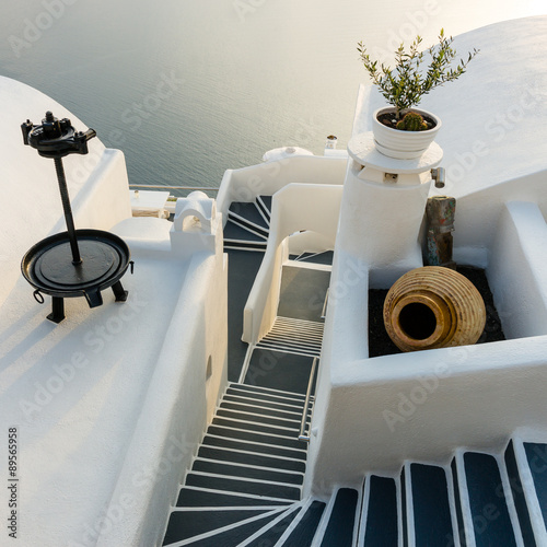 Stairs on Santorini Island Greece