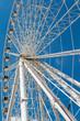 White Ferris Wheel on Blue Sky
