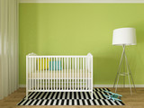 Fototapety Baby room interior, 3d render