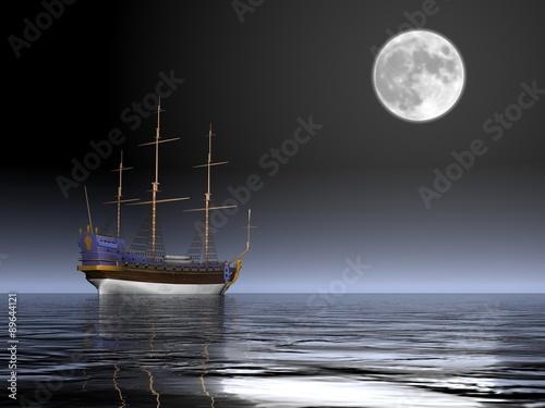 Fototapeta veliero di notte