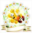 Постер, плакат: Label for honey Etichetta per il miele