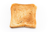 Baked toast isolated on white