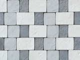 Fototapety White and grey paving (floor) tile