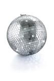 Fototapety disco mirror ball isolated on white background