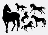 Horse silhouettes - 89694987