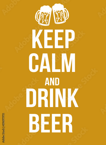 Plagát, Obraz Keep calm and drink beer
