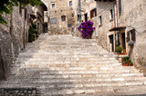 glimpse of the old village of sermoneta