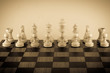 chess wood,Picture vintage style