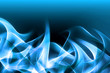 Blue Fire Abstract Waves Art Composition Background