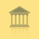 Greek temple front, vector