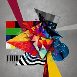 абстрактная обложка музыкального диска