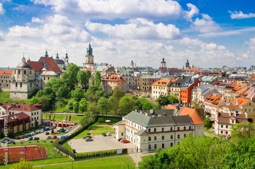 Zdjęcia na płótnie, fototapety na wymiar, obrazy na ścianę : Panorama of old town in City of Lublin, Poland