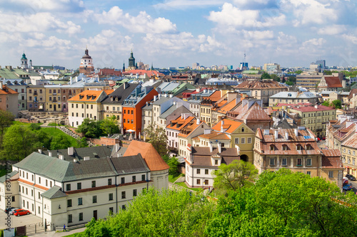 Fototapety, obrazy : Panorama of old town in City of Lublin, Poland
