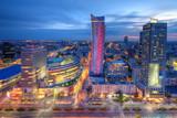 Fototapeta City - Warszawa wieczorna panorama miasta © Patryk Michalski