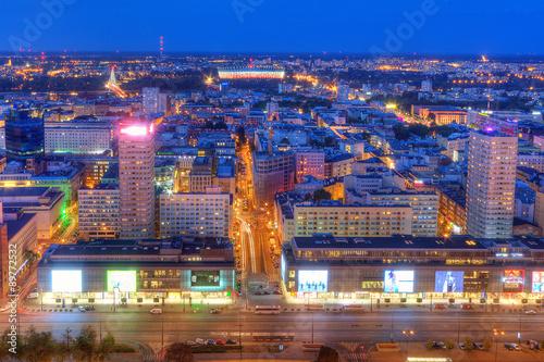 Fototapeta Warszawa nocą