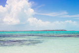 Scenic view of crystal clear ocean