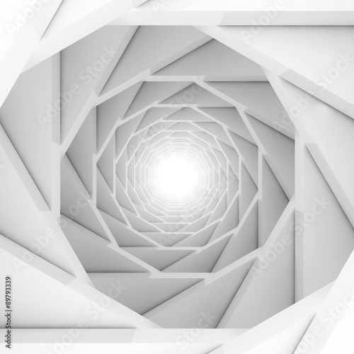 Abstract Futuristic Design Tunnel Background