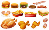 Fastfood in various types