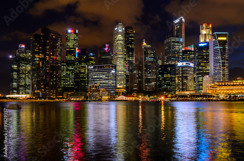 Plagát Singapore downtown