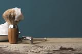 Fototapety vintage shaving Equipment on wooden Table