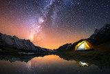 5 Billion Star Hotel. Camping in the mountains under the starry night sky.  - Fine Art prints