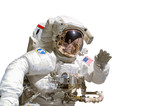 Close up of an astronaut isolated on white background - elements of this image are provided by NASA - 89839125