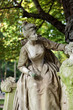 Paris - A sculpture of beautiful woman in  Luxembourg Garden