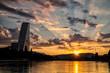 canvas print picture - Roche-Turm mit Sonnenaufgang