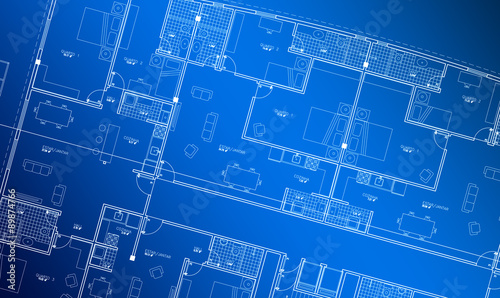 Architecture Floor plan background blueprint style abstract