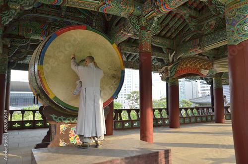 Fotobehang Seoel Bongeunsa Buddhist Temple in Seoul, South Korea..