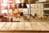 Fototapety wooden desk space
