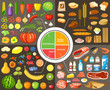 Set of products for healthy food