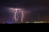 Fototapety Lightning in the night