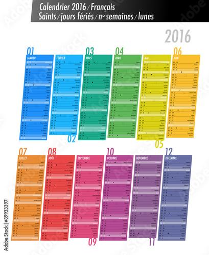 Calendrier 2016 saints semaines lunes fichier - Calendrier des lunes 2016 ...