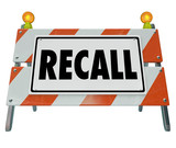 Recall Barrier Blockade Warning Sign Defective Auto Car Repair F poster