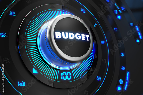 Budget Controller on Black Control Console.