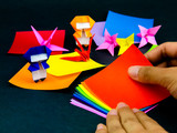 Japanese Origami Toys Folding Instructions; How to Play